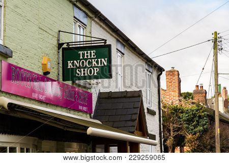 Editorial: Sign For The Knockin Shop Pun Of Knocking Shop