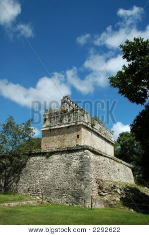 Ancient Mayan Fortress And Ramparts