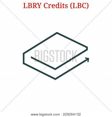 Vector Lbry Credits (lbc) Digital Cryptocurrency Logo. Lbry Credits (lbc) Icon. Vector Illustration