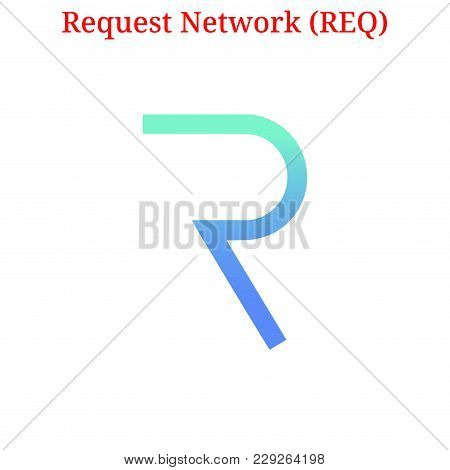 Vector Request Network (req) Digital Cryptocurrency Logo. Request Network (req) Icon. Vector Illustr