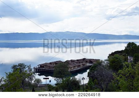 Bay Of Bones On Ohrid Lake. Macedonia.