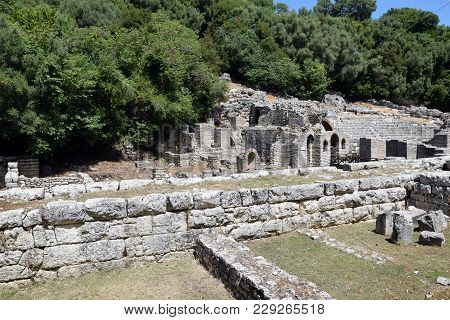 Ruins Of Buthrotum, Ancient City In South Albania. Butrint - Unesco World Heritage.