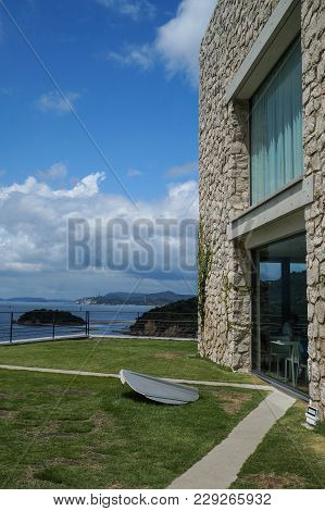 Naoshima, Japan-aug 12, 2017:the Area Around The Benesse Art Museum On Naoshima Island, Incorporatin