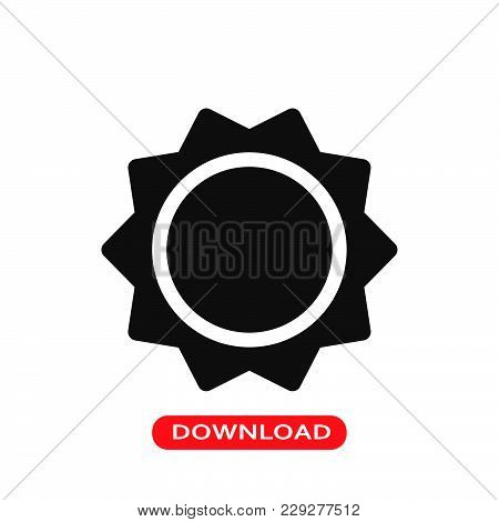 Sun Icon Vector In Modern Flat Style For Web, Graphic And Mobile Design. Sun Icon Vector Isolated On