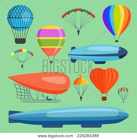 Aerostats Air Vector Balloon Transport Sky Hot Fly Adventure Journey And Old Style Balloon Air Trave