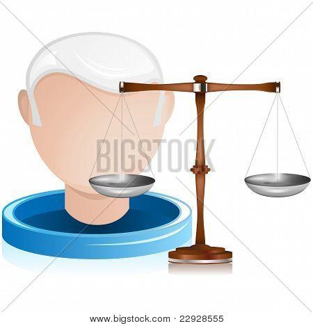 Oberrichter mit Gerechtigkeit Balance
