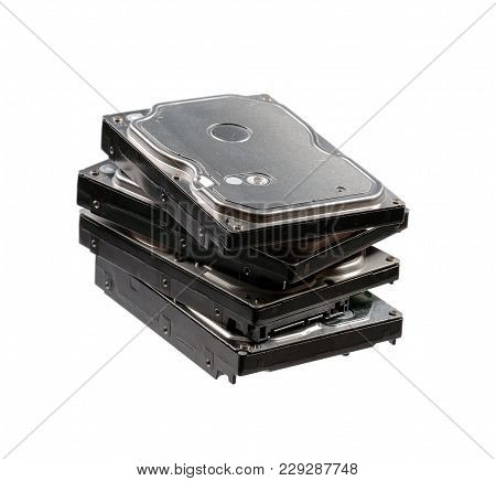 Hard Disk Drives Isolated. High Resolution Photo.