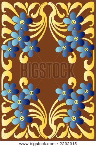 Blue Flower Decorative Pattern