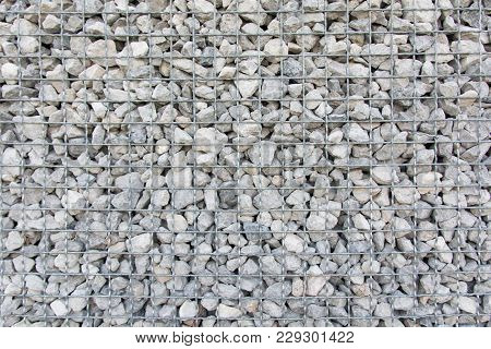 Stone Wall Blocks With Mesh Wire Metal
