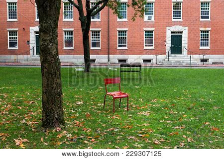 Park In One Of The Campuses In Cambridge City In Massachusets