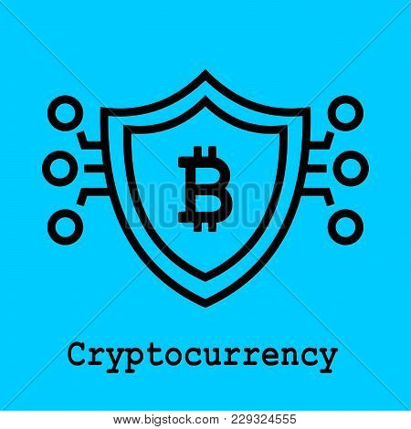 Block Chain Flat Icon. Crypto Currency Symbol. Vector Illustration. Block Chain Technology Concept.