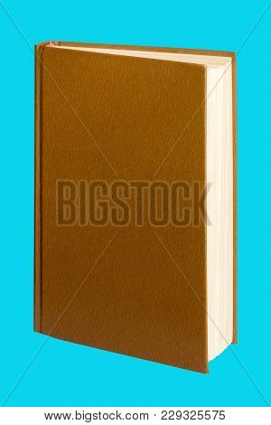 Open Book On An Isolated Blue Background For Design And Decoration