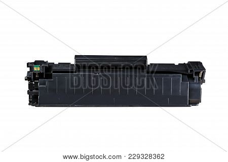 Printer Cartridge Black, Isolated On White Background For Carving