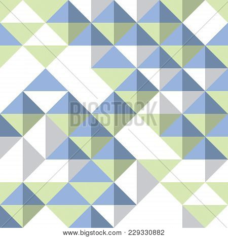Triangles And Rhombs Geometric Abstract Trendy Seamless Pattern, Vector Funky Background. Usable For