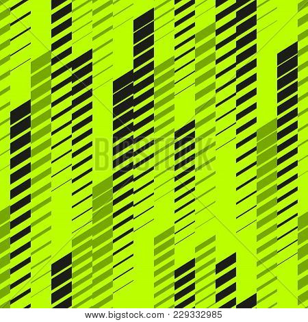 Abstract Geometric Seamless Pattern With Vertical Fading Lines, Tracks, Halftone Stripes. Extreme Sp