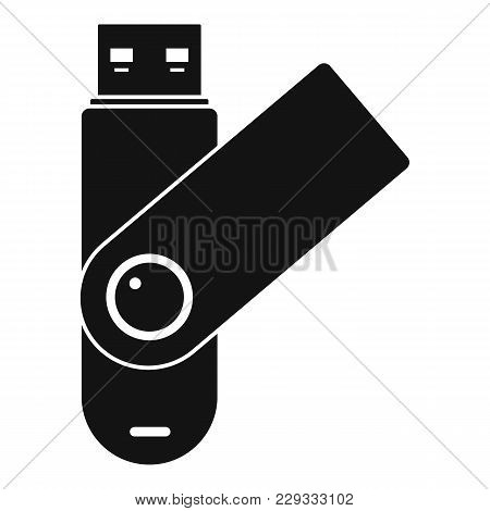 Usb Device Icon. Simple Illustration Of Usb Device Vector Icon For Web