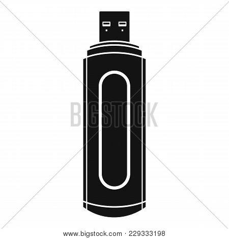 Computer Flash Drive Icon. Simple Illustration Of Computer Flash Drive Vector Icon For Web