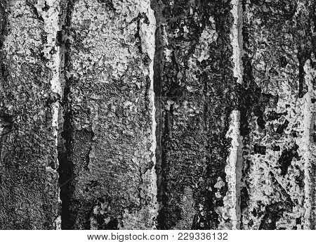 Abstract Dark Grunge Texture On Black Wall