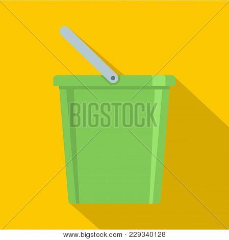Domestic Bucket Icon. Flat Illustration Of Domestic Bucket Vector Icon For Web