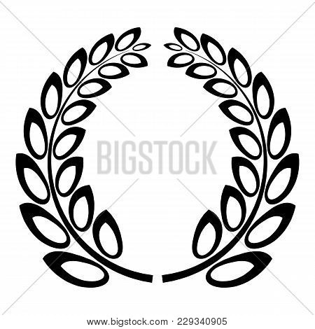 Trophy Wreath Icon. Simple Illustration Of Trophy Wreath Vector Icon For Web