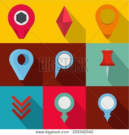Meeting Spot Icons Set. Flat Set Of 9 Meeting Spot Vector Icons For Web Isolated On White Background