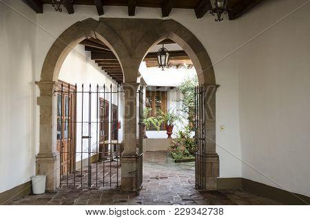 Valle De Bravo, Mexico- February 17, 2018: Interior Of The Museum Of The Cultural Center Joaquín Arc