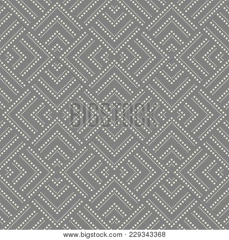 Abstract Geometric Pattern With Points. A Seamless Vector Background. Grey Ornament. Graphic Modern