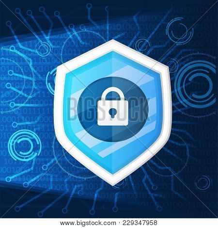 Cyber Security Light Background Graphic Vector Illustrations