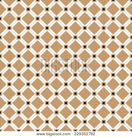 Cross Lines Vector Pattern, Background. Seamless Repeatable Grid, Mesh Pattern. Template Of Lattice
