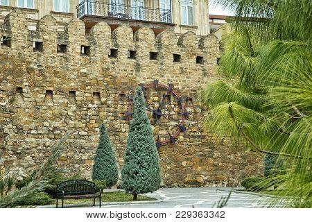 Icheri Sheher In Baku. Azerbaijan . Gate Of The Old Fortress, Entrance To Baku Old Town. Baku, Azerb