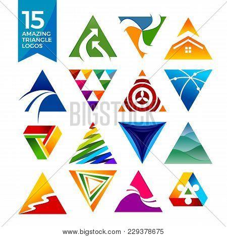 15 Amazing Triangle Shape Logos Vector Symbol Graphic Design