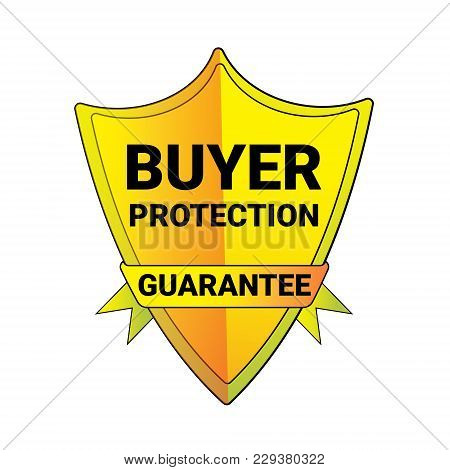 Seal Buyer Protection Guarantee Shield Logo Isolated Badge Icon Vector Illustration