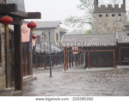 Romance Of The Three Kingdom Park. Travel In Wuhan , China In 2014, 18Th April.