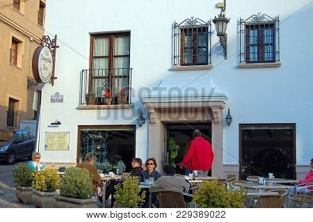 El Campillo Bar Restaurant Is A Popular Place For Tourists And Locals Alike - Ronda, Andalusia, Spai