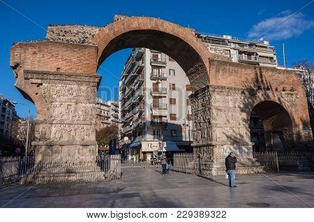 The Arch Of Galerius, Known As Kamara, Thessaloniki, Greece