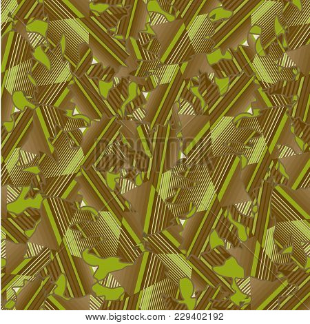 Camouflage Seamless Abstract Background With Geometric Pattern Vector Illustration