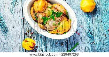 Dish With Chicken Meat