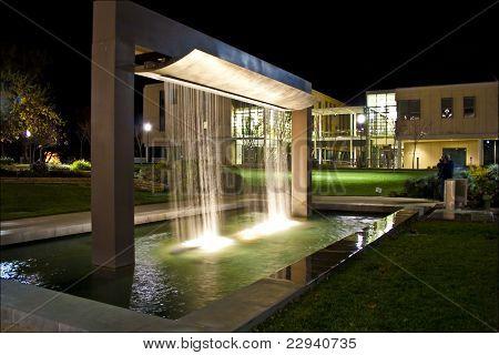 Mondavi Performing Arts Center Fountain at Night
