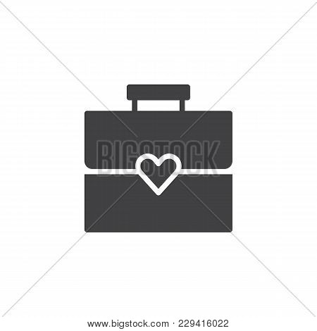 Briefcase With Heart Vector Icon