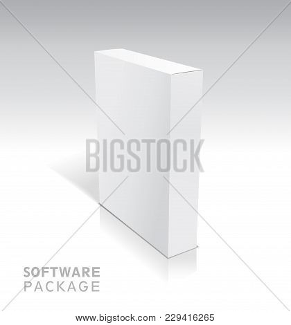White Package Cardboard Box.vector Illustration Of Box.