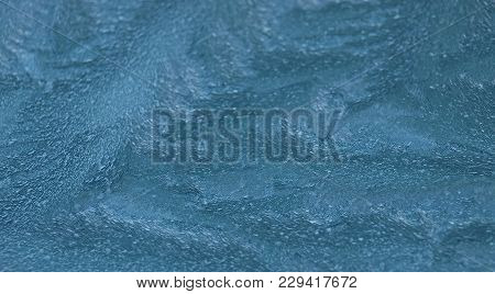 View Of Ice Drawing On Glass, Czech Republic