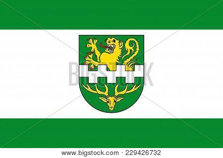 Flag Of Bergisch Gladbach Is A City In The Cologne/bonn Region Of North Rhine-westphalia, Germany. V