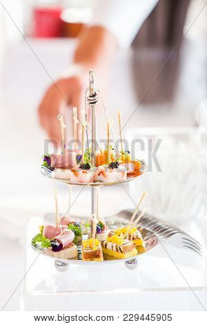 A Cocktail Table At The Wedding Ceremony
