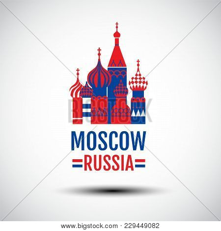 Logo Design , Vector Icon, Sign, Symbol,the Most Famous Cathedral In Moscow, Saint Basil's Cathedral