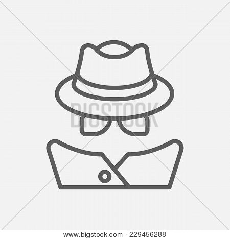 Detective Icon Line Symbol. Isolated Vector Illustration Of  Icon Sign Concept For Your Web Site Mob