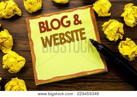 Hand Writing Text Caption Showing Blog  Website. Business Concept For Social Blogging Web Written On