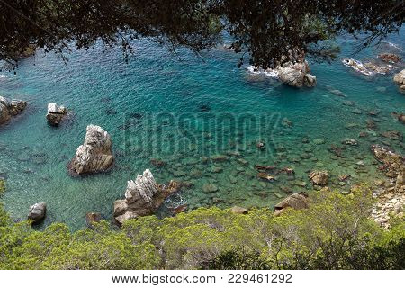 Transparent Sea And Crystal Clear Water Lloret De Mar, Spain.
