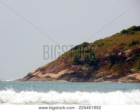 Landscape Of A Rocky Hillside By The Sea