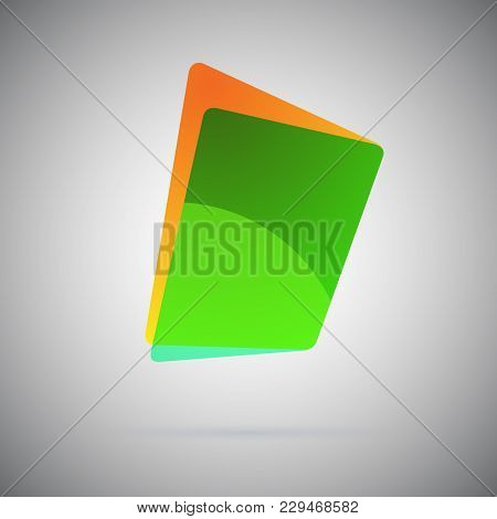 Abstract Geometric Gradient Colorful Icon. Vector Illustration. Blanc Color Emblem Folder For Logo,