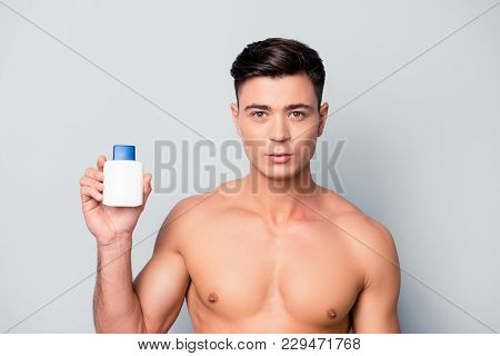 I Recommend You To Use This Shampoo For Your Hair To Be Fresh All Day. Handsome Guy Is Showing A Bot